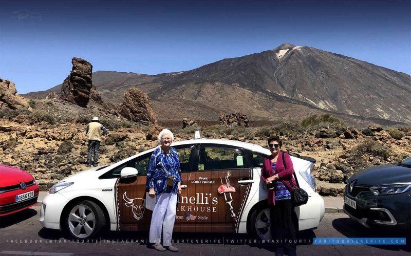 Peggy Burden en Taxi por el Teide